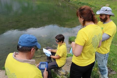 toma de datos del lago Sabocos