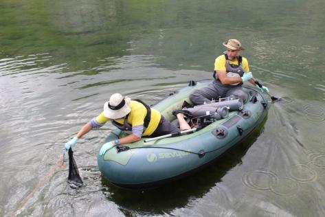 tomas de muestras del Lago Sabocos
